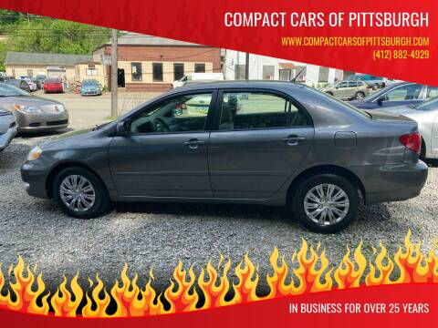 2006 Toyota Corolla for sale at Compact Cars of Pittsburgh in Pittsburgh PA