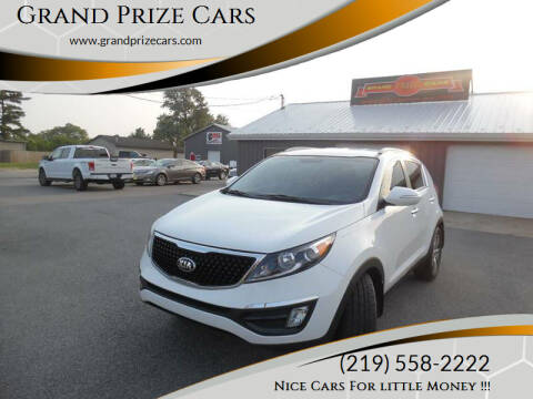 2014 Kia Sportage for sale at Grand Prize Cars in Cedar Lake IN