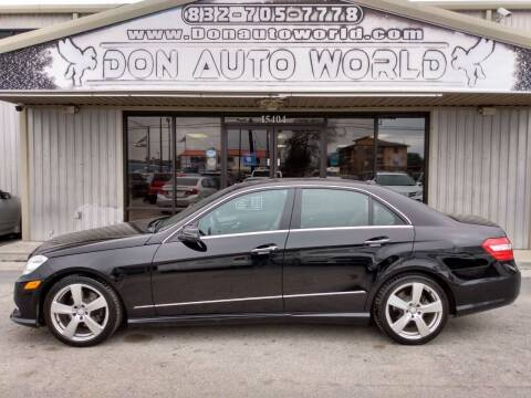 2010 Mercedes-Benz E-Class for sale at Don Auto World in Houston TX