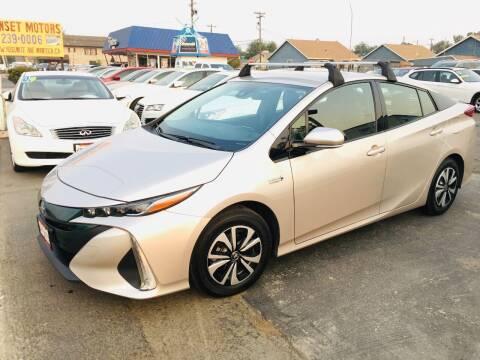 2017 Toyota Prius Prime for sale at Sunset Motors in Manteca CA