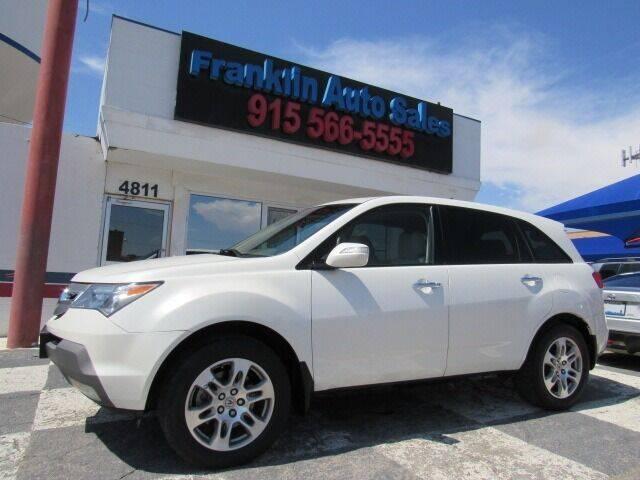 2009 Acura MDX for sale at Franklin Auto Sales in El Paso TX