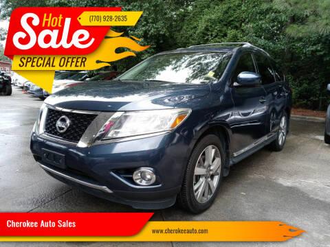 2013 Nissan Pathfinder for sale at Cherokee Auto Sales in Acworth GA