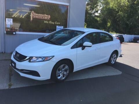 2015 Honda Civic for sale at Delafield Motors in Glenville NY
