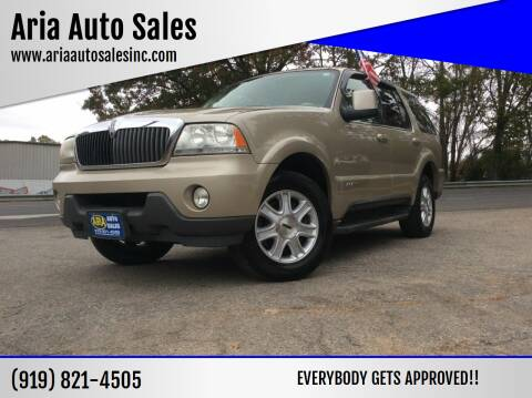 2004 Lincoln Aviator for sale at ARIA  AUTO  SALES in Raleigh NC