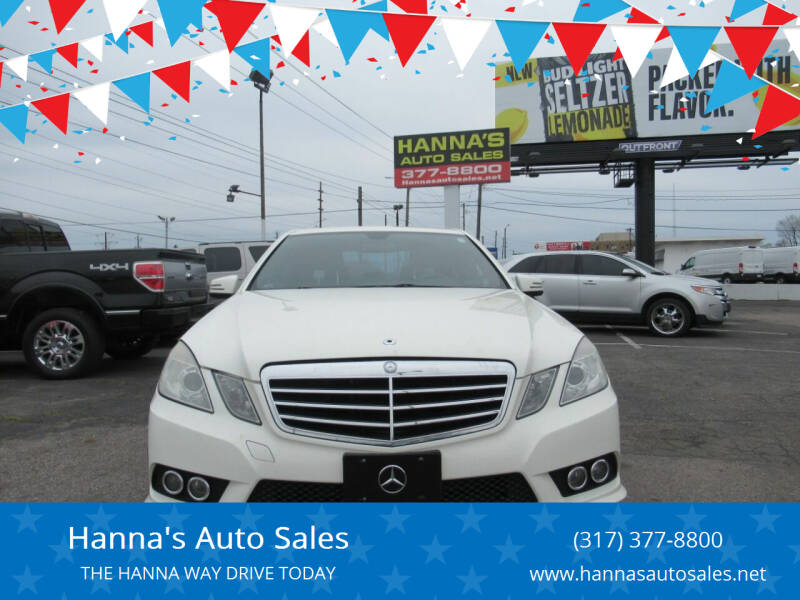 2010 Mercedes-Benz E-Class for sale at Hanna's Auto Sales in Indianapolis IN