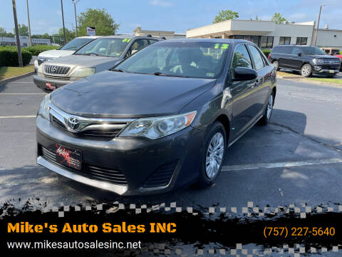 2013 Toyota Camry for sale at Mike's Auto Sales INC in Chesapeake VA