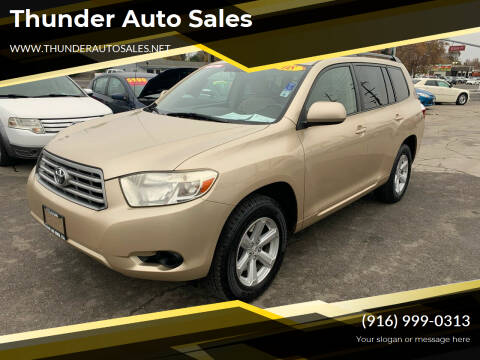 2008 Toyota Highlander for sale at Thunder Auto Sales in Sacramento CA