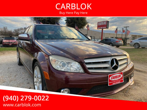 2008 Mercedes-Benz C-Class for sale at CARBLOK in Lewisville TX