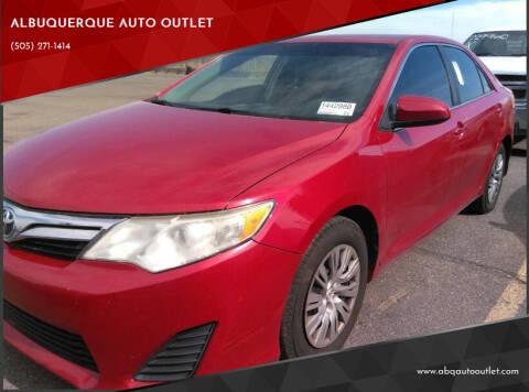 2014 Toyota Camry for sale at ALBUQUERQUE AUTO OUTLET in Albuquerque NM