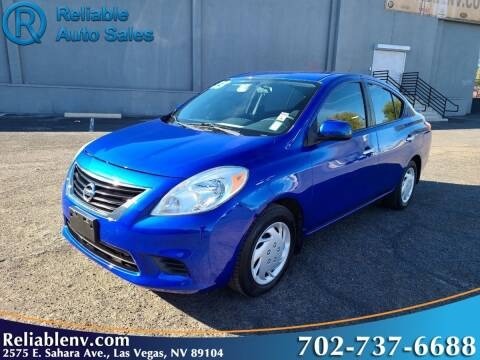 2013 Nissan Versa for sale at Reliable Auto Sales in Las Vegas NV