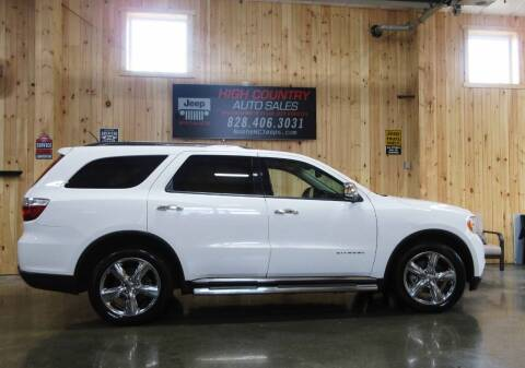 2013 Dodge Durango for sale at Boone NC Jeeps-High Country Auto Sales in Boone NC