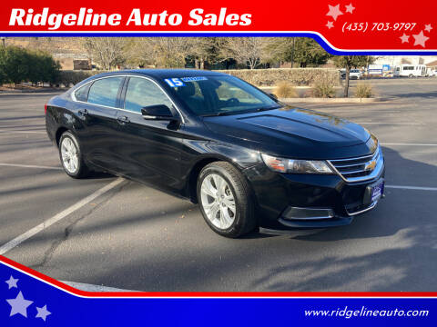 2015 Chevrolet Impala for sale at Ridgeline Auto Sales in Saint George UT
