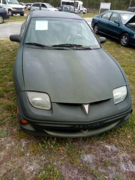 2001 Pontiac Sunfire for sale at MOTOR VEHICLE MARKETING INC in Hollister FL