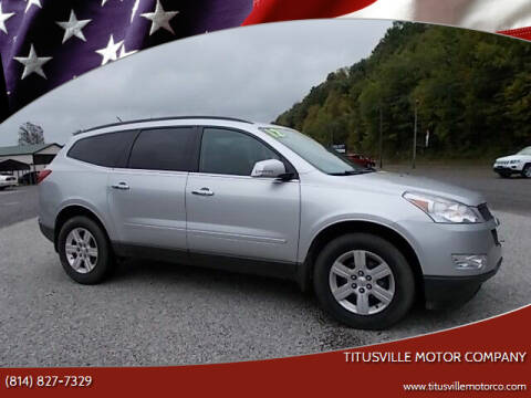 2012 Chevrolet Traverse for sale at Titusville Motor Company in Titusville PA