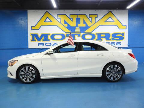 2018 Mercedes-Benz CLA for sale at ANNA MOTORS, INC. in Detroit MI