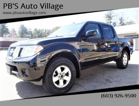 2013 Nissan Frontier for sale at PB'S Auto Village in Hampton Falls NH