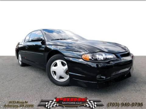 2003 Chevrolet Monte Carlo for sale at PRIME MOTORS LLC in Arlington VA