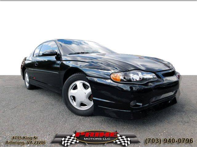 2003 Chevrolet Monte Carlo for sale at PRIME MOTORS LLC in Arlington VA