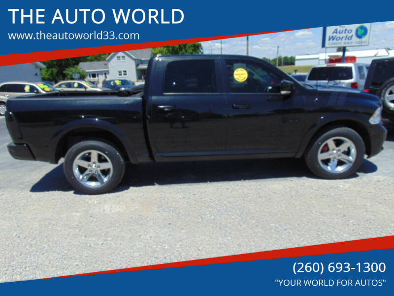 2010 Dodge Ram Pickup 1500 for sale at THE AUTO WORLD in Churubusco IN