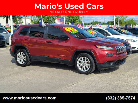 2014 Jeep Cherokee for sale at Mario's Used Cars in Houston TX