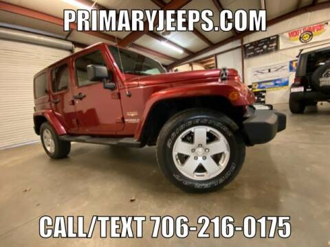 2012 Jeep Wrangler Unlimited for sale at Primary Auto Group in Dawsonville GA