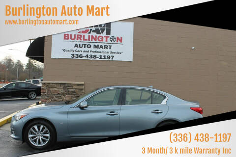 2015 Infiniti Q50 for sale at Burlington Auto Mart in Burlington NC