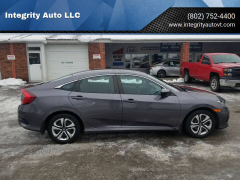 2018 Honda Civic for sale at Integrity Auto LLC - Integrity Auto 2.0 in St. Albans VT