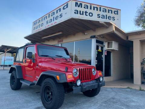 2004 Jeep Wrangler for sale at Mainland Auto Sales Inc in Daytona Beach FL