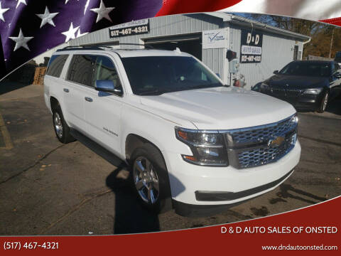 2016 Chevrolet Suburban for sale at D & D Auto Sales Of Onsted in Onsted   Brooklyn MI