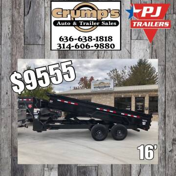 2021 Pj Trailers 16' Gooseneck Dump Trailer for sale at CRUMP'S AUTO & TRAILER SALES in Crystal City MO
