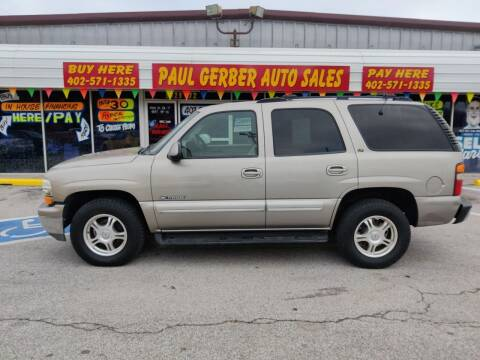 2001 Chevrolet Tahoe for sale at Paul Gerber Auto Sales in Omaha NE