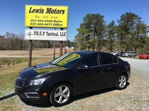 2015 Chevrolet Cruze for sale at Lewis Motors LLC in Deridder LA