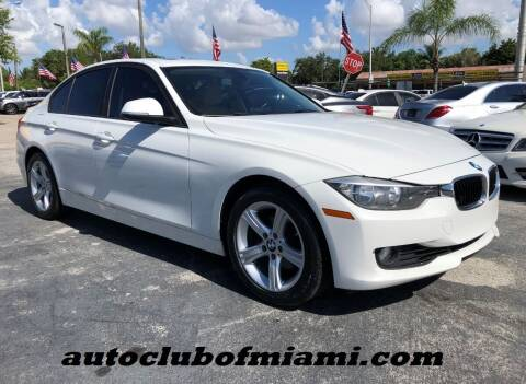 2015 BMW 3 Series for sale at AUTO CLUB OF MIAMI in Miami FL