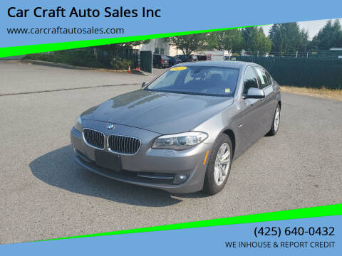 2013 BMW 5 Series for sale at Car Craft Auto Sales Inc in Lynnwood WA