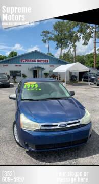 2009 Ford Focus for sale at Supreme Motors in Tavares FL