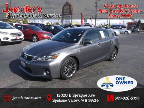 2012 Lexus CT 200h for sale at Jennifer's Auto Sales in Spokane Valley WA