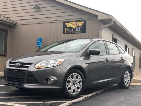 2012 Ford Focus for sale at MGM Motors LLC in De Soto KS