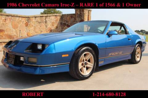 1986 Chevrolet Camaro for sale at Mr. Old Car in Dallas TX