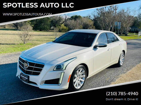 2014 Cadillac CTS for sale at SPOTLESS AUTO LLC in San Antonio TX