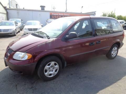 2003 Dodge Caravan for sale at Aspen Auto Sales in Wayne MI