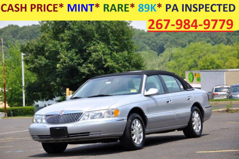 2002 Lincoln Continental for sale at T CAR CARE INC in Philadelphia PA