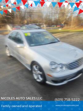 2007 Mercedes-Benz C-Class for sale at NICOLES AUTO SALES LLC in Cream Ridge NJ