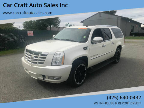 2008 Cadillac Escalade ESV for sale at Car Craft Auto Sales Inc in Lynnwood WA