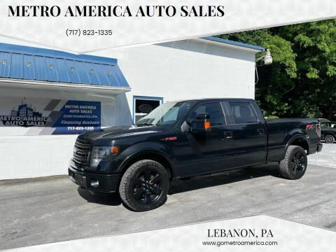 2014 Ford F-150 for sale at METRO AMERICA AUTO SALES of Lebanon in Lebanon PA