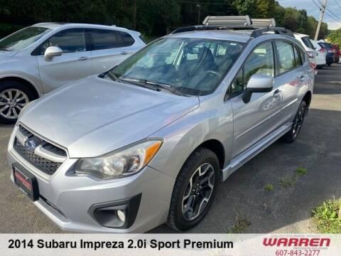 2014 Subaru Impreza for sale at Warren Auto Sales in Oxford NY