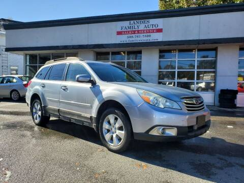 2012 Subaru Outback for sale at Landes Family Auto Sales in Attleboro MA