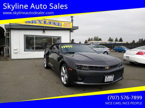 2015 Chevrolet Camaro for sale at Skyline Auto Sales in Santa Rosa CA
