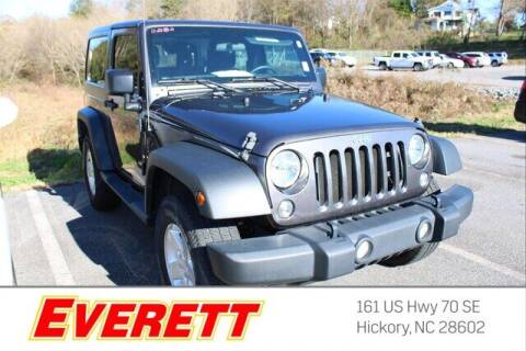2018 Jeep Wrangler JK for sale at Everett Chevrolet Buick GMC in Hickory NC