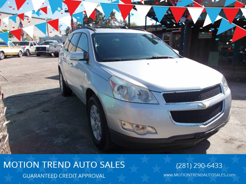 2010 Chevrolet Traverse for sale at MOTION TREND AUTO SALES in Tomball TX