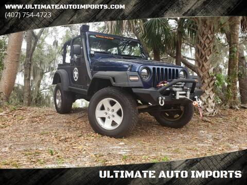 2001 Jeep Wrangler for sale at ULTIMATE AUTO IMPORTS in Longwood FL